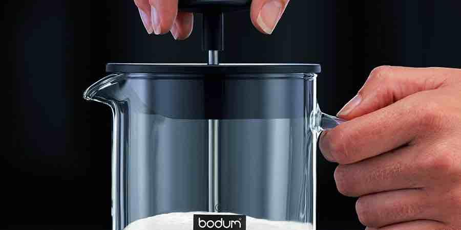 Bodum latteo. Batidor de leche con asa de cristal, batidor para hacer espuma de leche